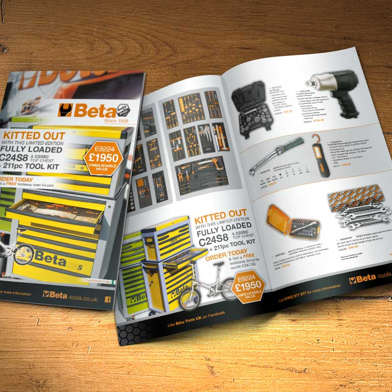 brochure design work for Beta
